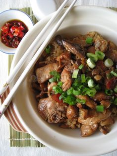Claypot Chicken Rice (瓦煲雞飯/煲仔飯)   Lama Kitchen - Drive Your Passion for Food   A Food & Cooking Blog