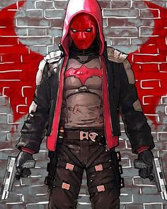 Red Hood design that merges Arkhamverse style and mainline DC style.