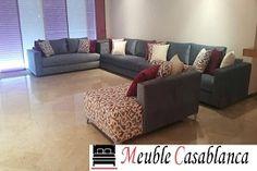 Salon form L et U a Casablanca - Maroc Sofa, Couch, Decoration, My Dream Home, Living Room, Inspiration, Furniture, Moroccan, Home Decor