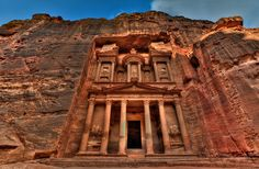 Petra 7 Wonders of the World Petra 7 Wonders of the World. Petra is one of seven wonders of the ancient world. Petra is behind dense rocky mountains. This place boasts of unique scenes which make i… Beautiful Places To Visit, Cool Places To Visit, Places To Go, Amazing Places, Places Around The World, Around The Worlds, Jordan Tours, City Of Petra, Jordan Photos
