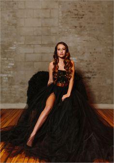 #blackdress #weddingdress #alternativebride #edgybride @weddingchicks