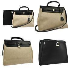 Hermes Black Toile \u0026amp; Leather Herbag Backpack Bag.   Hermes ...