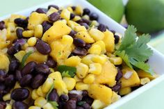 Black Bean  Mango Salsa. Perfect for summer grill outs.