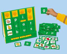 Mastering word building is easier than ever…with Lakeshore's Sort & Slide Word Building Activity Center!