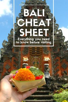 Your Cheat Sheet for all things Bali - customs, culture, safety, weather Bali, Indonesia Travel Honeymoon Backpack Backpacking Vacation #travel #honeymoon #vacation #backpacking #budgettravel #offthebeatenpath #bucketlist #wanderlust #Bali #Asia #southeastasia #sea #indonesia #exploreBali #visitBali #seeBali #discoverBali #TravelBali #BaliVacation #BaliTravel #BaliHoneymoon