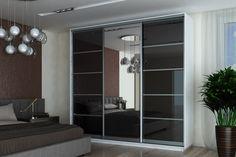Moderná šatníková skriňa FALA s posuvnými dverami s elegantným lesklým povrchom. Trojdverová, na stredových dvierkach sa nachádza zrkadlo. Vo vnútri je skriňa vybavená 4 policami a 2 vešiakovými tyčami, nad i pod tyčou sú taktiež police. #byvanie #domov #nabytok #skrine #skrinespojazdom #modernynabytok #designfurniture #furniture #nabytokabyvanie #nabytokshop #nabytokainterier #byvaniesnov #byvajsnami #domovvashozivota #dizajn #interier #inspiracia #living #design #interiordesign #inšpirácia Divider, Room, Furniture, Home Decor, Bedroom, Decoration Home, Room Decor, Rooms, Home Furnishings