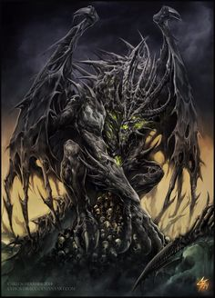 Necrotic Dragon Elder by Chaos-Draco.deviantart.com on @DeviantArt