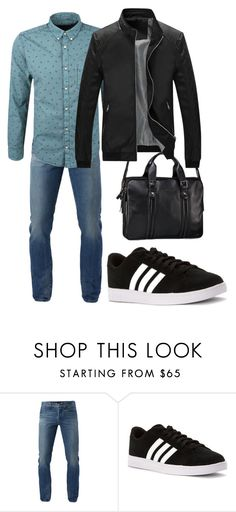 """""""Untitled #113"""" by mara-ya on Polyvore featuring 3x1, adidas, s.Oliver, Dr. Koffer, men's fashion and menswear"""