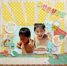 #papercraft #scrapbook #layout.  Summer Bliss - Scrapbook.com