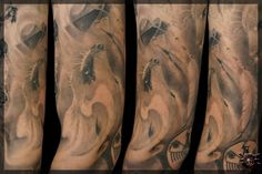 Black And Grey Tattoos, Crane, Blood, That Look, American, Sleeve, Manga, Black And Gray Tattoos