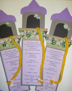 A Bushel and a Peck of FUN Rapunzel Party Details girl invites