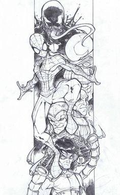 Spiderman and Baddies Final by JoeyVazquez on deviantART