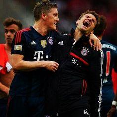 Bastian Schweinsteiger and Thomas Müller - Bayern München