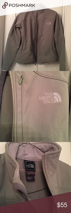 North face jacket Awesome color green. Like a light green sage North Face Jackets & Coats Utility Jackets