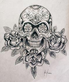 Tatuajes Tattoos, Leg Tattoos, Body Art Tattoos, Sleeve Tattoos, Tattoos For Guys, Tatoos, Skull Tattoo Design, Tattoo Design Drawings, Tattoo Designs