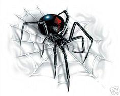 Black widow tatoo