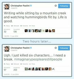 Christopher Paolini on twitter