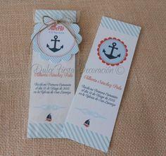 12 Marcapáginas Primera Comunión marinero niño por DulceFiesta