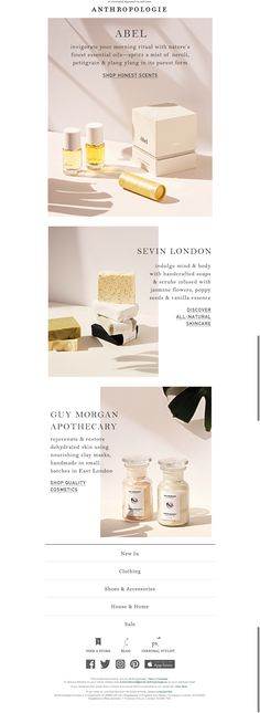 #newsletter Anthropologie 06.2017 In favour of natural Beauty.