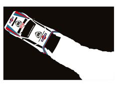 Delta art print, by cale funderburk Moto Car, Car Vector, Lancia Delta, Mobile Art, Car Posters, Graphic Design Posters, Graphic Art, Car Sketch, Automotive Art