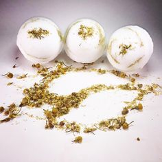 Shakti Things Chamomile Bath Bombs. In Stock $7 each! Order yours at info@shaktithings.com