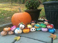 Tsum tsum painted pumpkins