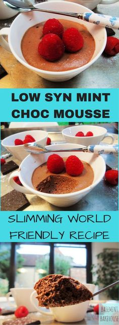 Low Syn Mint Chocolate Mousse - Slimming World - Dessert - Slimming World Pudding - Pudding - astuce recette minceur girl world world recipes world snacks Slimming World Deserts, Slimming World Puddings, Slimming World Recipes Syn Free, Slimming World Diet, Slimming Eats, Slimming World Mousse, Slimming World Taster Ideas, Slimming World Breakfast, Healthy Treats