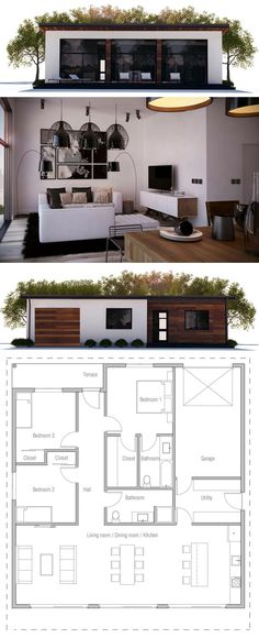 Two Bedroom House Plan House In 48 Pinterest House Bedroom Extraordinary Bedroom Love Minimalist Plans