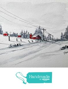 WATERCOLOR ORIGINAL Painting, Original Watercolor Painting-watercolor landscape, WATERCOLOR, landscape original, painting from Maine ARTist http://www.amazon.com/dp/B01FZX0S44/ref=hnd_sw_r_pi_dp_N7pqxb15EVPK1 #handmadeatamazon