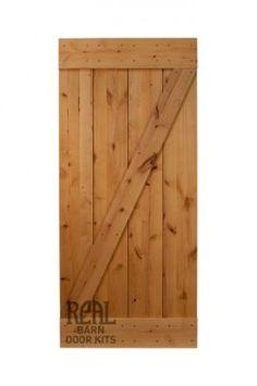 Real Barn Door Kit (Rustic Alder) - Real Sliding Hardware