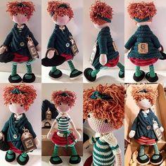 Crochet Doll Dress, Crochet Doll Pattern, Knit Crochet, Crochet Patterns, Knitted Bunnies, Crochet Slippers, Knitted Shawls, Amigurumi Doll, Yarn Crafts