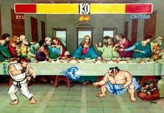 Skeletor, and other pop culture characters populate thrift store paintings in the hilariously augmented art of Toronto-based artist David Irvine. Cultura Pop, Famous Pop Art, Thrift Store Art, Thrift Stores, Spiderman, Last Supper, Popular Art, Old Paintings, Altered Art