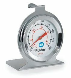 Polder Oven Thermometer, Stainless Steel by Polder. $6.31. Versatile design which can stand or hang on oven grate. Solid, bi-metal construction. Easy to read, large dial in both fahrenheit and celsius. Temperature range: 50F (10C0 to 500F (250C). Dishwasher safe. Polder has been offering everyday products with extraordinary design since its launch. The company was established in 1976, delivering better quality European-styled housewares to the U.S. market. Polder found early...