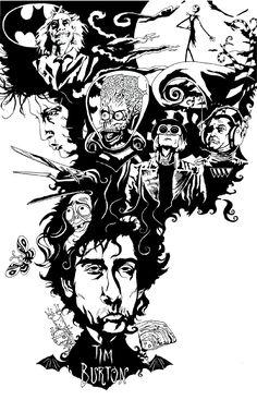 Tim burton fan art   tim burton by kriztoff fan art digital art drawings other 2005 2013 ...