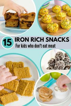 Iron Rich Foods and Recipes For Kids and Picky Eaters Who Don't or Won't Eat traditional iron foods such as Meat, Chicken, and Green Veggies Picky Eater Lunch, Picky Eaters Kids, Foods For Picky Eaters, Chicken Recipe For Picky Eaters, Foods With Iron, Iron Rich Foods, Iron Rich Recipes, Iron Rich Baby Food, Baby Food Recipes