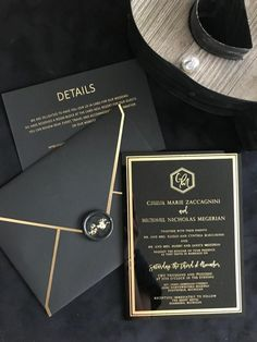 Art Deco Wedding Invitations, Acrylic Wedding Invitations, Wedding Invitation Cards, Wedding Stationery, Wedding Cards, Black And Gold Invitations, Invites, Wedding Blog, Our Wedding