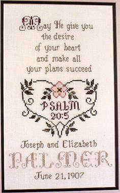 Wedding Blessing - Cross Stitch Patternby In A Gentle Fashion