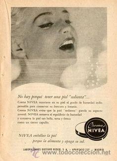 Página Publicidad Original *Crema NIVEA* -- Vintage--  Año 1959