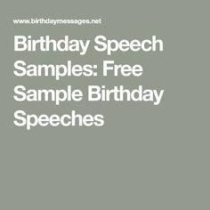 Birthday Speeches for Milestone Celebrations: a 50th ...