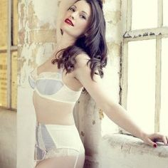 We've teamed up with beautiful independent lingerie label Fraulein Annie to offer one lucky Fashion Bust fan the chance to win a Falling in Love lingerie set. The three-piece lingerie set – bra, su. Retro Lingerie, Luxury Lingerie, Lingerie Set, White Lingerie, Stockings Lingerie, Online Lingerie, Portraits, Beautiful Lingerie, Full Figured