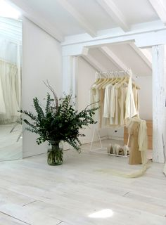 The third floor of the Madrid flagship store reserved for the bridal collection.