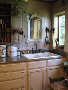 My farmhouse kitchen. HighButtonShoe