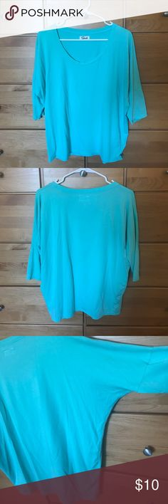 Turquoise Top Soft, casual and effortless Top in a beautiful turquoise. ✖️NO TRADES ✖️NO OTHER SELLING APPS 👉🏼 PRICE NEGOTIABLE USING THE MAKE AN OFFER FUNCTION Tops