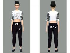 The Sims Resource: Sports pants black female by Simsoertchen • Sims 4 Downloads