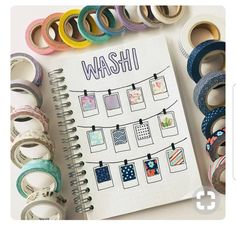 Keeping up with washi tape in your journal—what a wonderful idea.