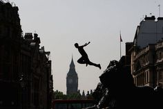 """""""Twenty-seven athletes representing 17 countries across five continents descended on Trafalgar Square for the world free-running championships."""""""