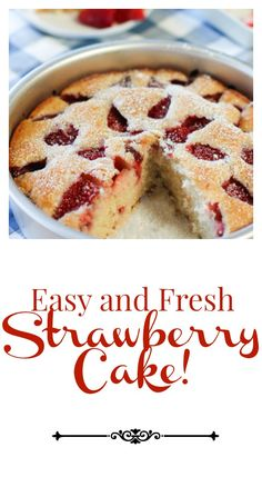 Easy Strawberry Cake