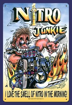 Nitro Dragster | Nitro Junkie Vintage Drag Racing sign. Nitro