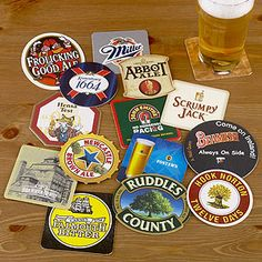 A fun set of coasters that you can never have too many of.  Your toddler will love them, too!  (...not that we should be promoting alcohol to minors...) Pub Coasters, Set of 15 | World Market