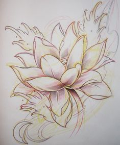 Lotus Flower Tattoo Drawing | lotus flash 01 - flower tattoo